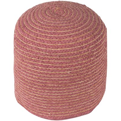Chuckanut Pouf Ottoman Upholstery: Red