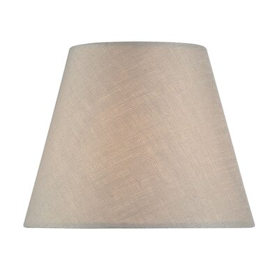 5 Linen Empire Candelabra Shade Color: Light Taupe