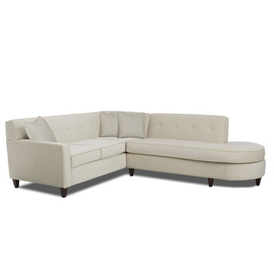 Vernon Elizabeth Sectional Upholstery: Oakley Ivory, Orientation: Left Hand Facing