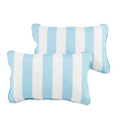 Capetown Stripe Indoor/Outdoor Lumbar Pillow