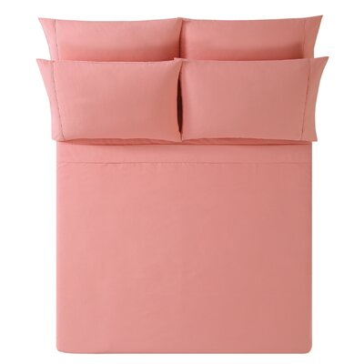Breanna Sheet Set Size: King, Color: Coral