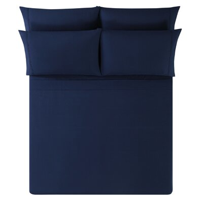 Breanna Sheet Set Size: King, Color: Navy