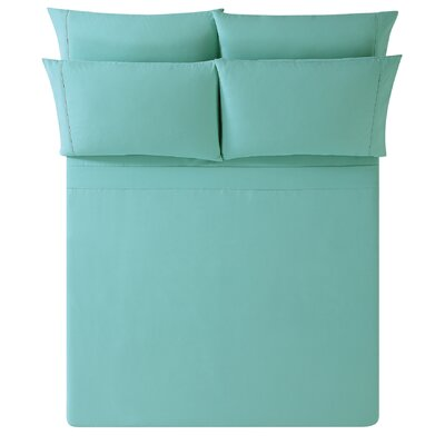 Breanna Sheet Set Size: King, Color: Turquoise