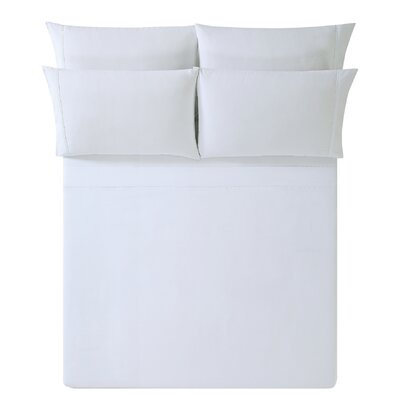 Breanna Sheet Set Size: King, Color: White