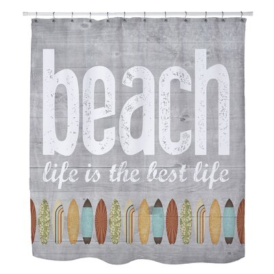 Maitland Beach Life Shower Curtain