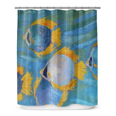 Winterport Fish School Shower Curtain