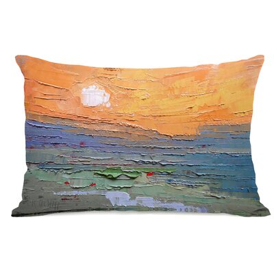 Sunset Dune Burnt Sky Lumbar Pillow