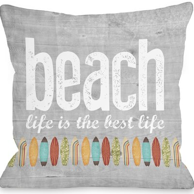 Maitland Beach Life Throw Pillow Size: 18 H x 18 W x 3 D