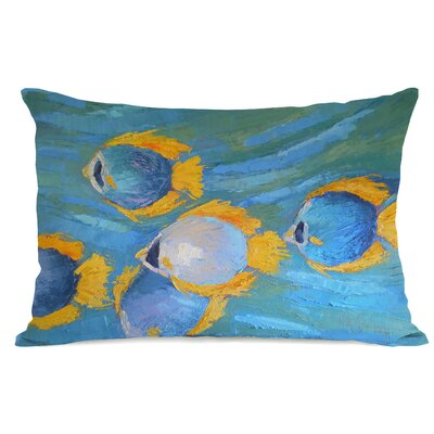 Winterport Fish School Lumbar Pillow