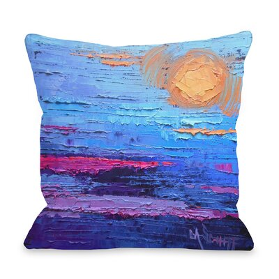 Valencia Moon Over Miami Throw Pillow Size: 18 H x 18 W x 3 D