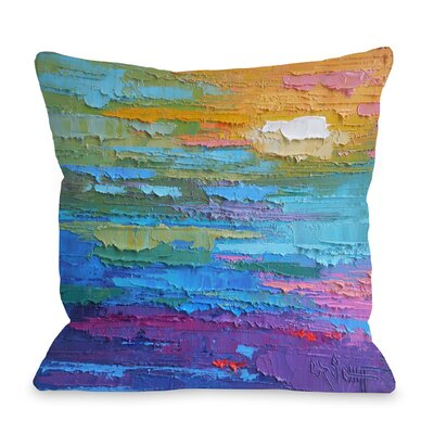Zella Summer Heat Throw Pillow Size: 18 H x 18 W x 3 D