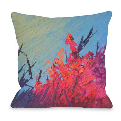 Zola Coral Reef Garden Throw Pillow Size: 16 H x 16 W x 3 D