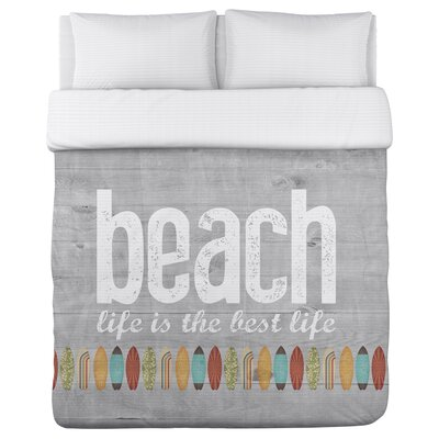 Maitland Beach Life Duvet Cover Size: King