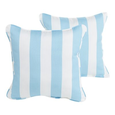 Fitzsimmons Corded Stripe Indoor/Outdoor Throw PIllow Size: 22 H x 22 W x 5 D