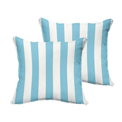 Fitzsimmons Flange Stripe Indoor/Outdoor Throw Pillow Set Size: 18 H x 18 W x 6 D