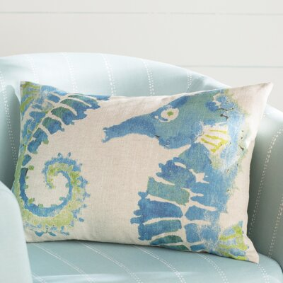 Heatherfield Linen Lumbar Pillow Color: Blue