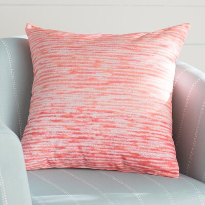 Rocio Ocean View Throw Pillow Size: 16 H x 16 W, Color: Coral