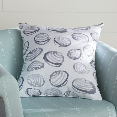 Cedarville Clams Geometric Print Throw Pillow Size: 18 H x 18 W, Color: Gray