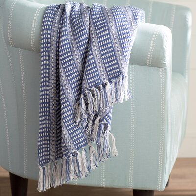 Kentfield Cotton Throw Color: Blue/White