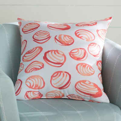 Cedarville Clams Geometric Print Throw Pillow Size: 26 H x 26 W, Color: Coral