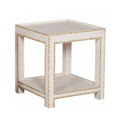 Sergio End Table Finish: Manor White Wash