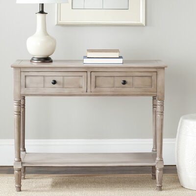 Manning 2 Drawer Console Table Finish: Vintage Gray