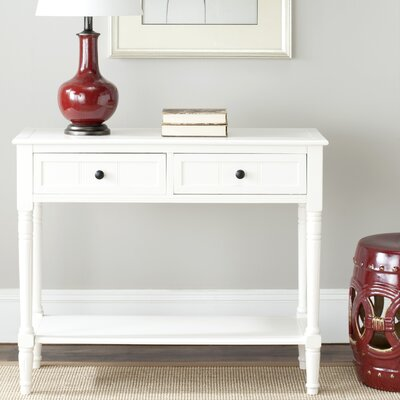 Manning 2 Drawer Console Table Finish: Distressed Cream
