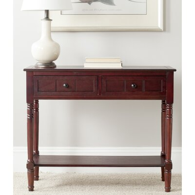Manning 2 Drawer Console Table Finish: Dark Cherry