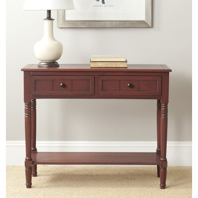 Manning 2 Drawer Console Table Finish: Red