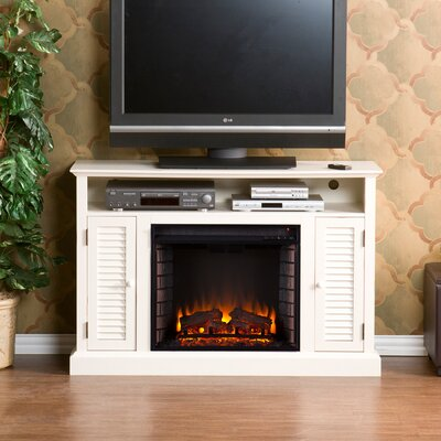 Osmond TV Stand with Electric Fireplace Finish: Antique White
