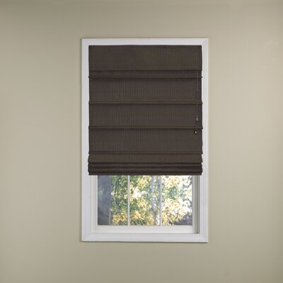 Blackout Roman Shade Size: 27 W x 72 L, Color: Chocolate
