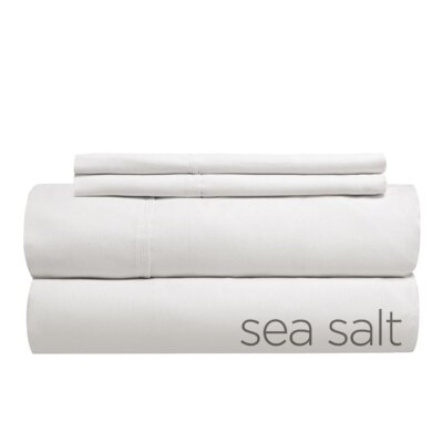 Sint 310 Thread Count Solid 100% Cotton Sheet Set Size: Twin XL, Color: Sea Salt