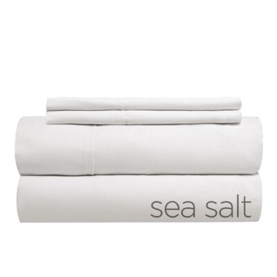 Tove 310 Thread Count 100% Cotton Sheet Set Color: Sea Salt, Size: Split King