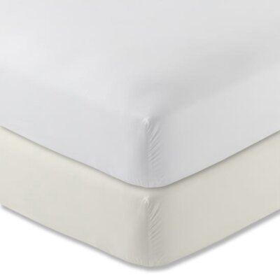 Tove 310 Thread Count 100% Cotton Fitted Sheet Color: Shell, Size: Twin