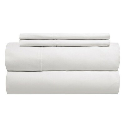 Tove 310 Thread Count 100% Cotton Fitted Sheet Color: Sea Salt, Size: Twin XXL