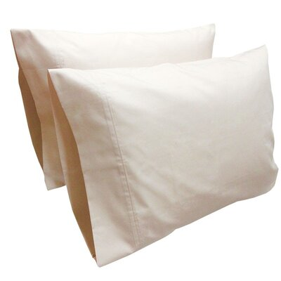 Cashwell Conventional Solid Pillow Case Color: Shell