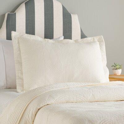 Bay Quilt Set Color: Ivory, Size: King