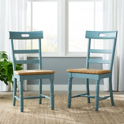Alburg Solid Wood Dining Chair Finish: Antique Blue