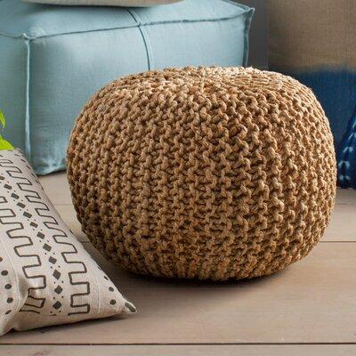 Odin Sphere Pouf Ottoman Upholstery: Khaki