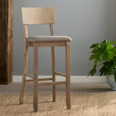 Bonifay 30 Bar Stool Finish: Gray Wash