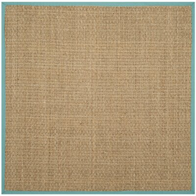 Richmond Natural/Teal Area Rug Rug Size: Square 6