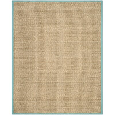 Richmond Natural/Teal Area Rug Rug Size: 6 x 9