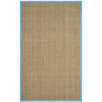 Richmond Natural/Turquoise Area Rug Rug Size: 5 x 8