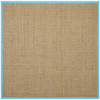 Richmond Natural/Turquoise Area Rug Rug Size: Square 6