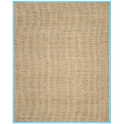 Richmond Natural/Turquoise Area Rug Rug Size: 8 x 10