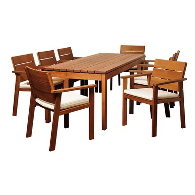 Ruby Eucalyptus 9 Piece Dining Set