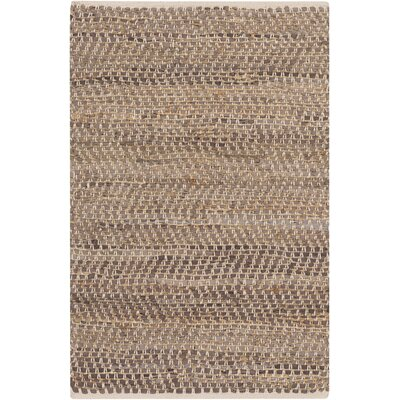 Lorna Handmade Taupe Area Rug Rug Size: Rectangle 2' x 3'