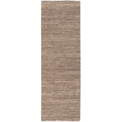 Lorna Handmade Taupe Area Rug Rug Size: Runner 2'6