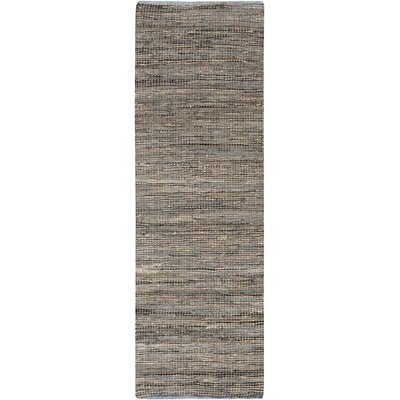 Lorna Hand-Woven Gray Area Rug Rug Size: Runner 2'6