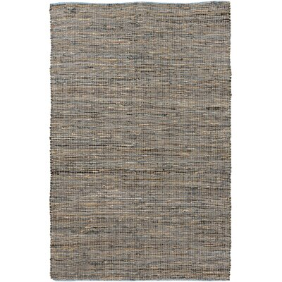 Lorna Hand-Woven Gray Area Rug Rug Size: 5 x 8
